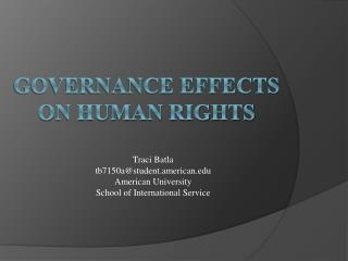 Governance effects on Human rights