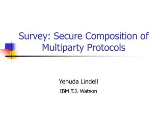 Survey on Secure Composition of Multiparty Protocols