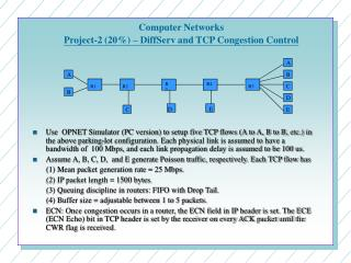 Computer Networks Project-2 (20%) – DiffServ and TCP Congestion Control