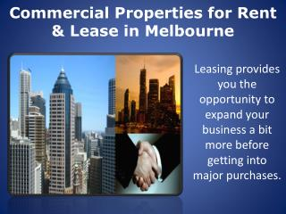 Commercial Properties for Rent & Lease in Melbourne
