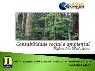 Contabilidade  social e  ambiental
