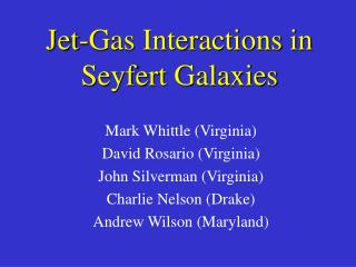 Jet-Gas Interactions in  Seyfert Galaxies