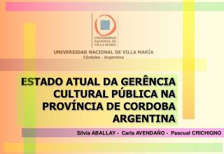 UNIVERSIDAD NACIONAL DE VILLA MARÍA Córdoba - Argentina