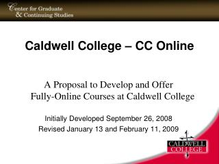 Caldwell College   CC Online