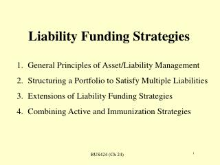 Liability Funding Strategies