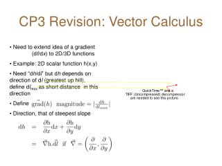 CP3 Revision: Vector Calculus