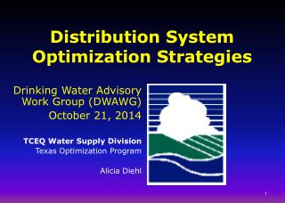 Distribution System Optimization Strategies