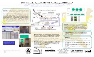 EPICS Software Development for SNS VME-Based Timing and RTDL System*