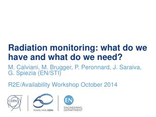 Radiation monitoring: what do we have and what do we need?