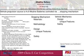 2009  Chem -E-Car Competition