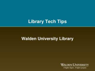Library Tech Tips