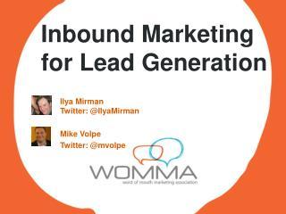 Inbound Marketing for Lead Generation