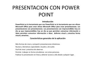 PRESENTACION CON POWER POINT