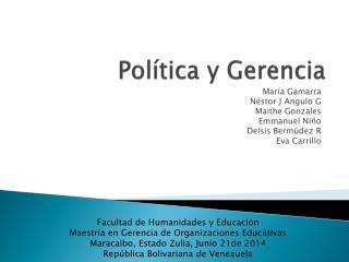 Política y Gerencia
