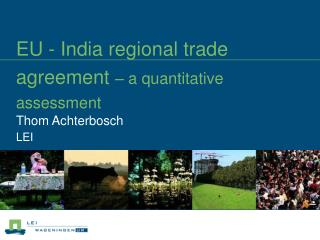 EU - India regional trade agreement   a quantitative assessment