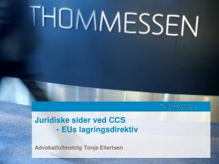 Juridiske sider ved CCS - EUs lagringsdirektiv