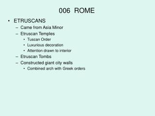 006  ROME