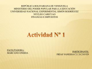 REP�BLICA BOLIVARIANA DE VENEZUELA MINISTERIO DEL PODER POPULAR PARA LA EDUCACI�N