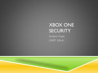 Xbox one Security