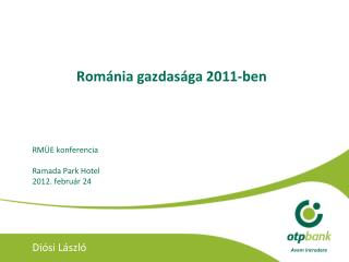 Rom ánia gazdasága 2011 -ben