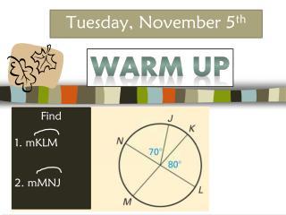 Tuesday, November 5 th
