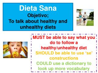 Dieta Sana Objetivo; To talk about healthy and unhealthy diets