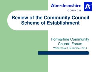 Review of the Community Council Scheme of Establishment