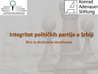 Integritet političkih partija u Srbiji