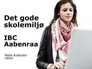 Det gode skolemiljø IBC  Aabenraa
