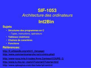 Int2Bin