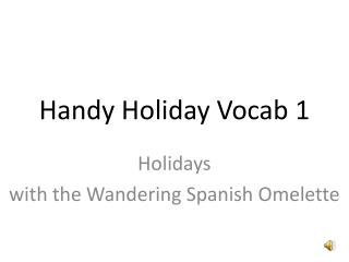 Handy Holiday Vocab 1