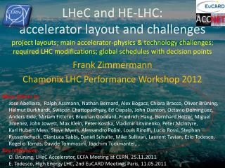 LHeC  and HE-LHC:  accelerator layout and challenges