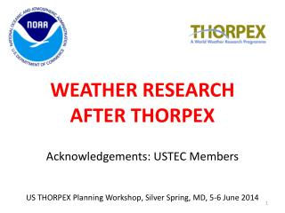 WEATHER  RESEARCH AFTER THORPEX