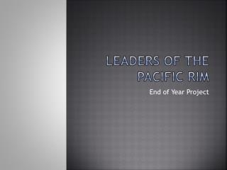 Leaders of the Pacific Rim