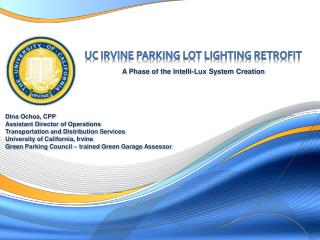 UC Irvine Parking Lot Lighting retrofit