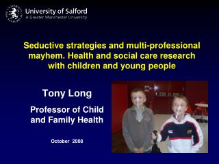 Seductive strategies and multi-professional mayhem. Health and social care research with children and young people