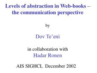 AIS SIGHCI,  December 2002