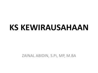 KS KEWIRAUSAHAAN