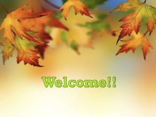 Welcome!!