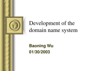 Development of the domain name system