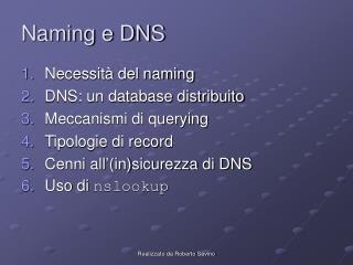 Naming e DNS