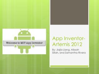 App Inventor- Artemis 2012