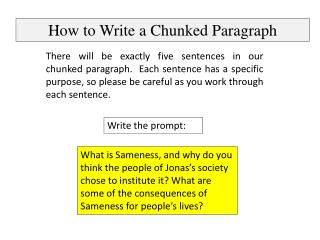 How to Write a Chunked Paragraph