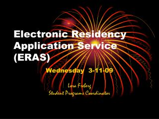 Electronic Residency Application Service (ERAS)