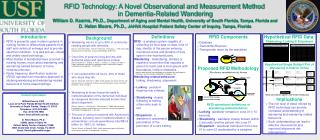 RFID Technology: A Novel Observational and Measurement Method  in Dementia-Related Wandering