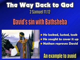 David's sin with Bathsheba