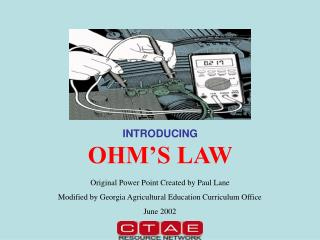 INTRODUCING OHM'S LAW