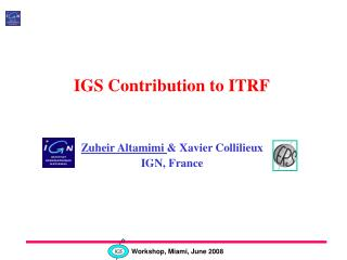IGS Contribution to ITRF