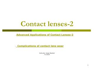 Contact lenses-2