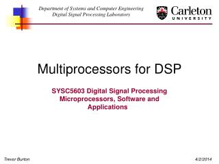 Multiprocessors for DSP